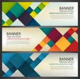 Bannière d'affaires avec les places colorées Descripteur de conception d'affaires Bannières horizontales Vecteur Image stock