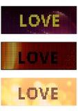 Bannière d'amour illustration de vecteur