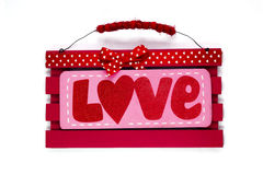 Bannière d'amour Image libre de droits