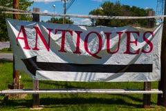 Bannière d'antiquités Photo stock