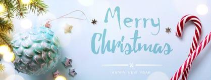 Bannière d'Art Christmas Holidays Photo libre de droits