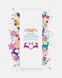 Bannière 3D colorée de Joyeux Noël Image stock