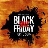 Bannière d'or de vente noire de vendredi illustration libre de droits