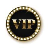 Bannière d'or de VIP avec des lumières Photo stock