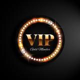 Bannière d'or de VIP avec des lumières Photo libre de droits
