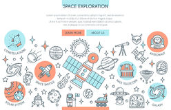 Bannière d'exploration d'espace illustration libre de droits