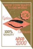Bannière d'extension de cil de vintage de couleur Image stock