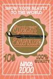 Bannière d'extension de cil de vintage de couleur Photographie stock libre de droits