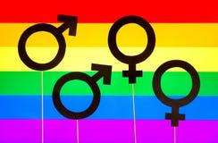 Bannière d'homosexualité et de fierté gaie Images libres de droits