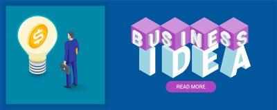 Bannière d'idée d'affaires illustration libre de droits