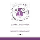 Bannière d'idée d'affaires de vision de vente d'argent avec l'espace de copie Photo libre de droits