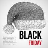 Bannière d'image tramée de Dotwork de ventes de Black Friday Photos stock