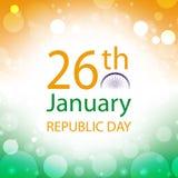 Bannière d'Inde de jour de République Photographie stock