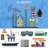 Bannière d'industrie pétrolière  Photo stock