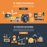 Bannière d'industrie pétrolière  Photos libres de droits