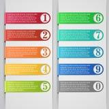 Bannière d'Infographic Images libres de droits