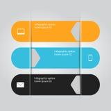 Bannière d'Infographic Photographie stock libre de droits