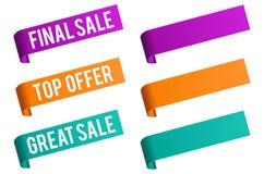 Bannière d'insigne de vente et de prix discount Image libre de droits