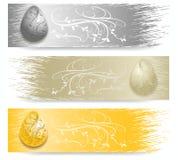 Bannière d'oeuf de pâques Photographie stock