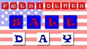 Bannière d'offre spéciale des Présidents Day Sale avec la guirlande des cartes 3d Conception pour des affaires, la promotion et l Images libres de droits