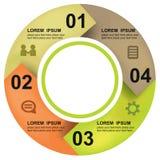 Bannière d'options de cercle illustration libre de droits
