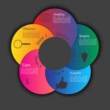 Bannière d'options de style d'Infographics illustration de vecteur
