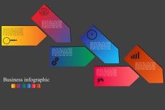 Bannière d'options de style d'Infographics Images stock