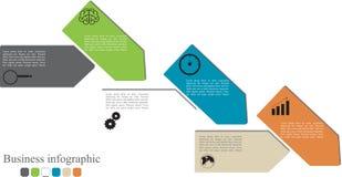 Bannière d'options de style d'Infographics Images libres de droits