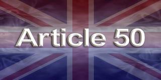 Bannière d'Union Jack de l'article 50 Images stock