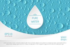Bannière de baisse de l'eau Photo stock