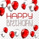 Bannière de ballon de joyeux anniversaire illustration de vecteur