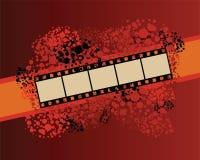 Bannière de bande de film sur le modèle repéré. Image libre de droits