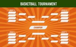 Bannière de basket-ball Tournoi de panier Match de basket ou tournoi de basket-ball Tasse de championnat illustration stock