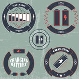 bannière de batterie de charge Image libre de droits