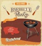 Bannière de BBQ de vintage illustration de vecteur