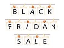 Bannière de Black Friday des photos vides avec des feuilles d'érable Image stock