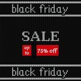 Bannière de Black Friday sur la texture tricotée Illustration de vecteur Image libre de droits