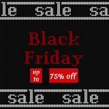 Bannière de Black Friday sur la texture tricotée Illustration de vecteur Photo libre de droits