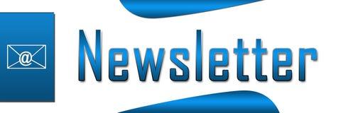 Bannière de bleu de bulletin d'information illustration de vecteur