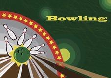 Bannière de bowling Image libre de droits