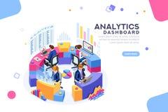 Bannière de calibre de gestion de tableau de bord d'Analytics illustration libre de droits