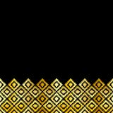 Bannière de carte, noir turc d'or de tapis de modèle Couverture de kilim d'oriental de mosaïque de patchwork avec l'ornement géom illustration de vecteur