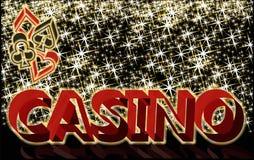 Bannière de casino avec des éléments de tisonnier, vecteur Images stock