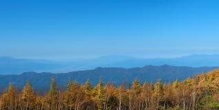 Bannière de chaîne de montagne, Panoraic, panorama Photos libres de droits