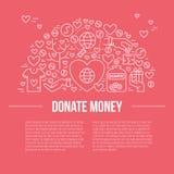 Bannière de charité Photographie stock libre de droits