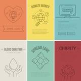 Bannière de charité illustration de vecteur