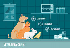 Bannière de clinique de vétérinaire Photo stock