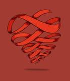 Bannière de coeur Photo stock
