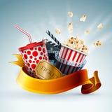Bannière de concept de cinéma illustration stock