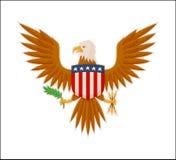 Bannière de couleur d'Eagle American National Mascot Animal illustration stock